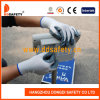 Ddsafety 2017 13G White Nylon Grey Nitrile Coated Work Gloves