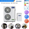 -25c Cold Winter House Floor Heating System+Dhw 12kw/19kw/35kw/70kw Auto-Defrost Evi Air to Water Heat Pump Heater CE/TUV