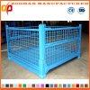 Warehouse Storage Cage Wire Mesh Roll Trolley Container (ZHra71)