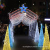 LED 3D Cone Motif Curtain Light Christmas Decoration
