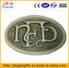 Antique Plating Metal Emblem Badge with Buckle