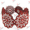 Red Leather Shinny Crystal Bracelet for Fashion Cloth Accessories (LB151101)