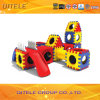 Indoor Kids′ Body Exercising Blocks Plastic Toys with Slide (PT-019)