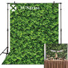Artificial Flower Grass Greenery Panel Decor Wall Fence Fake Plants