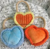 Three Colors of Heart Design Soundin Pet Toy