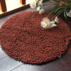 Washable High Pile Microfiber Round Shaped Chenille Carpet Rugs