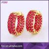 Brass Hoop Earring Rhinestone Womens Earrings New Design Earrings
