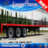 China Manufacturer Wholesale Price Tri Axle 20FT 40FT Flatbed Semi Trailer