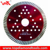 Turbo Diamond Cutting Blade with Cooling Holes for Cutting Hard Granite