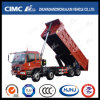 High Quality Foton Auman 8*4 Front Lifting Dump Truck