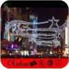New LED Christmas Motif Cross Street Light with Fancy Star