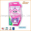 Compete with Schick Popular in France Hot Selling New Design for Supermarket Daily Use Disposable Razor (LA-6933)