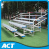 Durable 4 Row Aluminum Bleacher with Guardrail