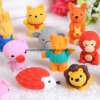 Different Small Animal Shape Erasers