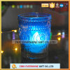Heat Resistant Blue Glass Candle Holder
