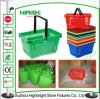 Double Handle Supermarket Plastic Shopping Basket