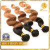 Top Grade Ombre Hair 100% Remy Human Hair Weaving (O-1)