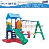 Kindergarten Playground Kids Plastic Slide and Swing Sets (M11-09501)