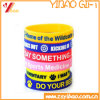 Custom Colorful Solid Silk Screen Silicone Wristband in China (YB-LY-WR-15)