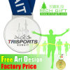 Cheap Newest Arrival Customed School Medal Silver with Medal Belt