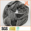 100% Acrylic Grey Knitted Neck Scarf