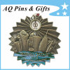 Creative Metal Antiqued 3D Pin Badge with Spinner Badge (badge-115)