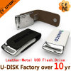 Fashion Custom Logo Metal Leather USB Flash Drive 2/4/8/16/32/64GB