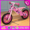 Children Favorites Wooden Balance Bike, Lovely Butterfly Wooden Bike for Children, Wooden Children Wooden Bike W16c125