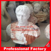 Hand Carvd Red White Marble Bust Statue