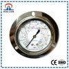"2.5"" Oil Filled Refrigerant Pressure Gauge with Stainless Steel, Central Back Mount, Edge Mount"