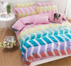 Cotton Stripe Color Stripe Bedding Mattress Cover Bedding Set