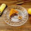 Free Sample Fruit Dishes Transparent Glass Plate for Dinnerware