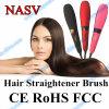 Beauty Star Nasv Hair Straightener Brush with LCD Display