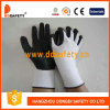 Ddsafety 2017 White Nylon Liner Black PU Coated on Palm and Finger Safety Glove