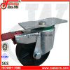 6 Inch Sg Iron Double Brake Trash Bin Castor
