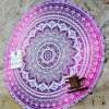 Soft Printed Beach Circle Pareo/Towel with Dia140cm (Hz217)