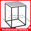Gillmore Space Kensal Marble Side Table with Black Base Square