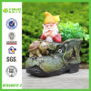 Best Hit Polyresin Dwarf with Boot Flower Planter (NF360072-2)