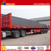 Head Board 3 Axle Container Transport 40FT Flatbed Trailer