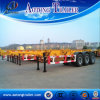 Tri-Axle 45ft Skeleton Container Semi Truck Trailer with Small Gooseneck