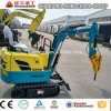 Function Mini Excavator 0.8ton Rubber Track Digger Small Digger for Sale