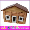 2014 New Wooden Kids Toy House, Lovely Design Children Toy House and Hot Selling Baby Wooden Toy House W06A074