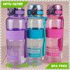 Big Capacity Plastic Water Bottle with Clock BPA Free
