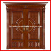 Double Leaf Exterior Wooden Door (YM-005)