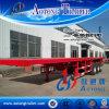 China Hot Sale Tri-Axle Flatbed Semi Trailer
