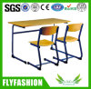 Wholesale School Furniture Double Student Desk and Chair Set (SF-45D)