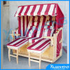 2 Person Outdoor Pool Wooden Beach Chair