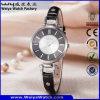 ODM Fashion Casual Leather Strap Quartz Ladies Wrist Watch (Wy-063E)