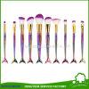 Wholesales Foundation Blending Blush Eyeliner Fish Tail Brush Makeup Brush Kit 10PCS Mermaid Makeup Brush Set