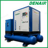 Belt Coupling Twin Tank Screw Air Compressor with Air Dryer